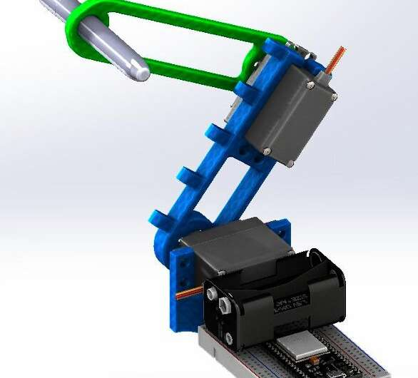 An open-source and low-cost robotic arm for online education