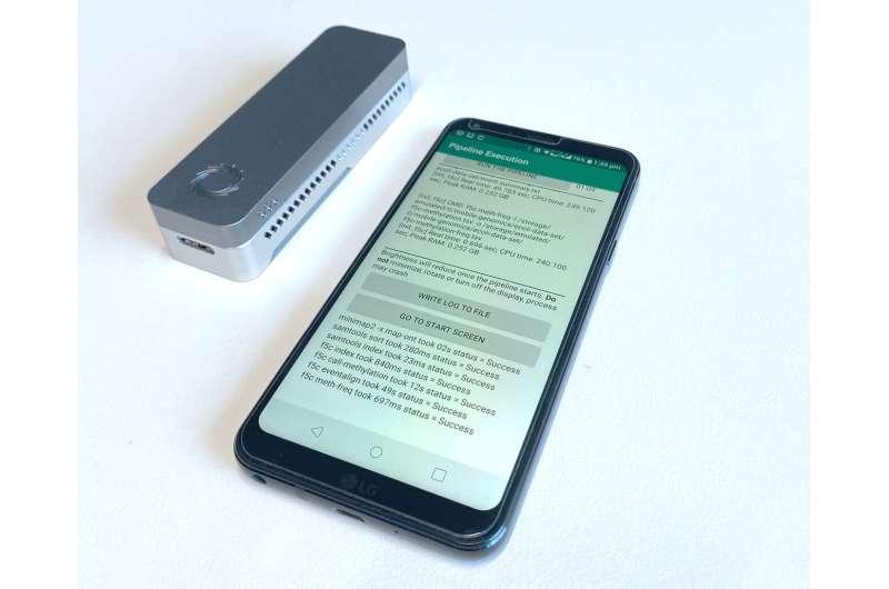 App analyzes coronavirus genome on a smartphone