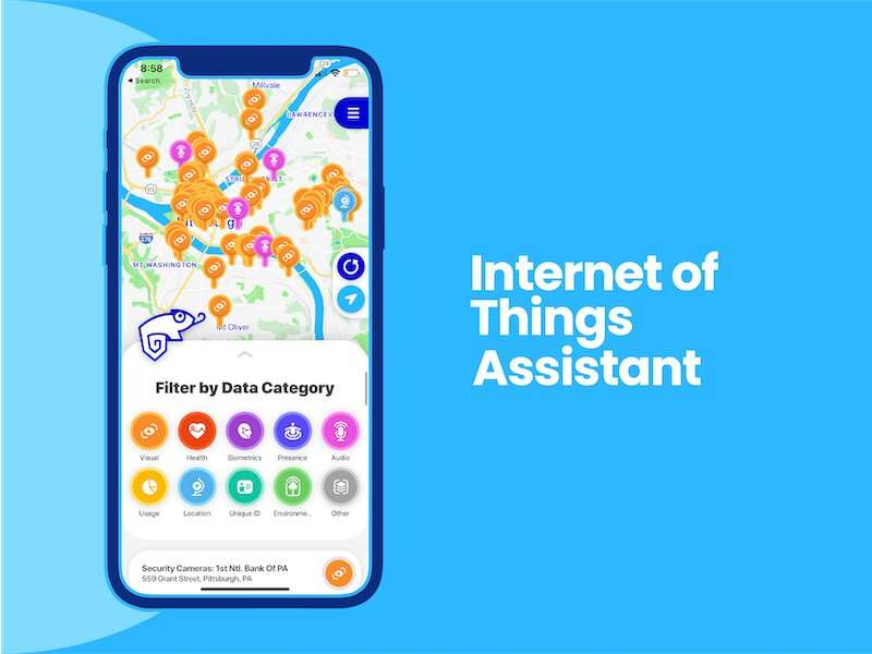 App and infrastructure alert users about data collection around them
