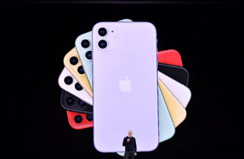 Apple CEO Tim Cook normally hosts splashy media events like this one in November 2019 to introduce new products, but the iPhone