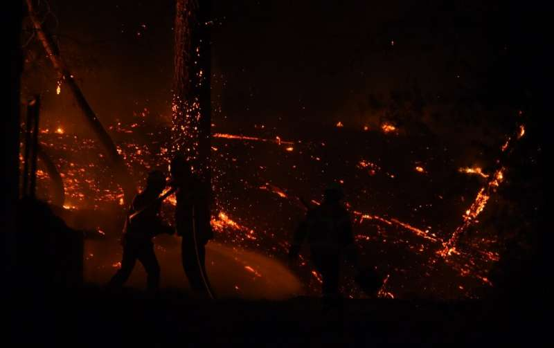 Around a hundred firefighters tried to beat back the fire