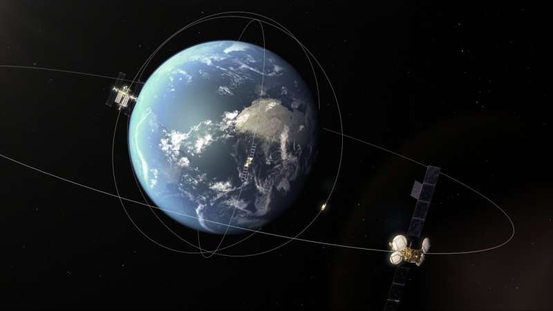 Asteroid grazes path of satellites in geostationary ring