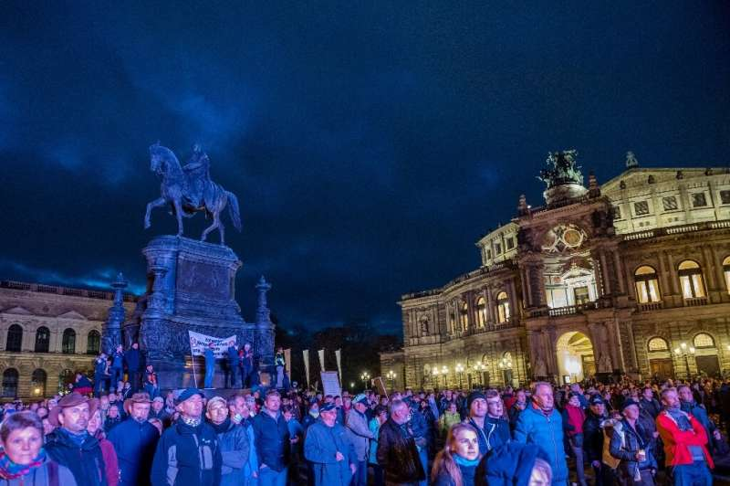 A tightening of restrictions across Europe in the face of spiking virus cases has brought sporadic protests notably in Germany—h