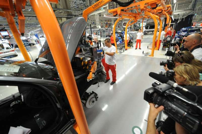 Audi will adapt its production line at Gyor in Hungary to respect social distancing rules