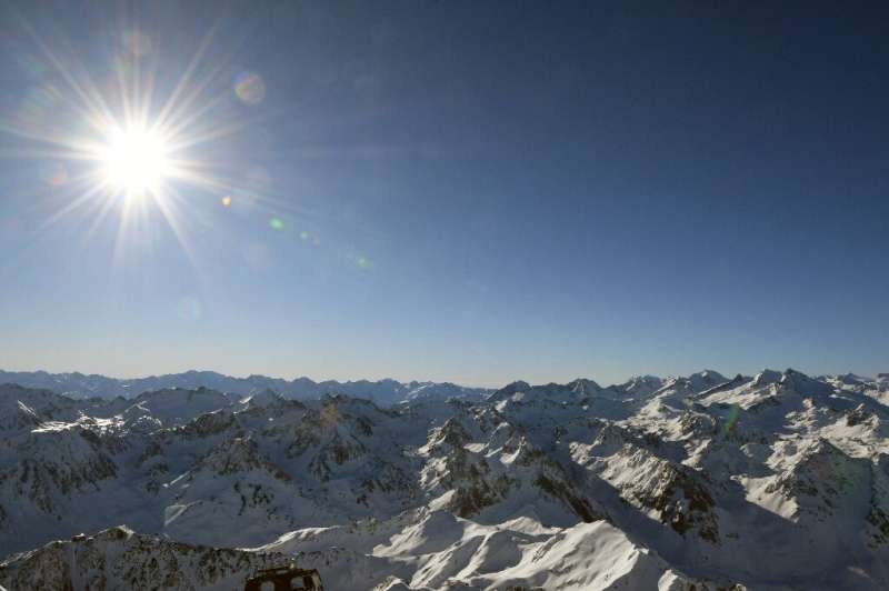 A view of the Pyrenees from the observatory at the Pic du Midi de Bigorre, where the average temperature has risen by 1.7 degree