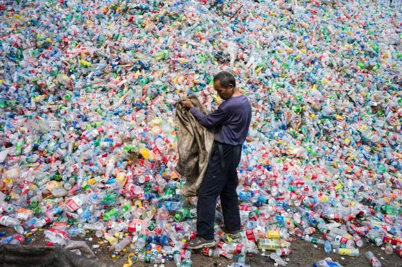 Before it clamped down on plastic waste imports, China processed almost half of the world's plastic waste (picture is from the o