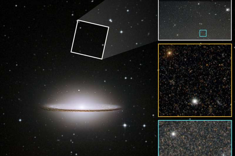 Beyond the brim, Sombrero Galaxy's halo suggests turbulent past