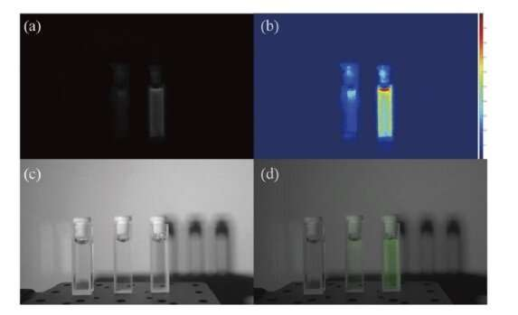 Bio-inspired endoscope provides 3-D visible and near-infrared images simultaneously