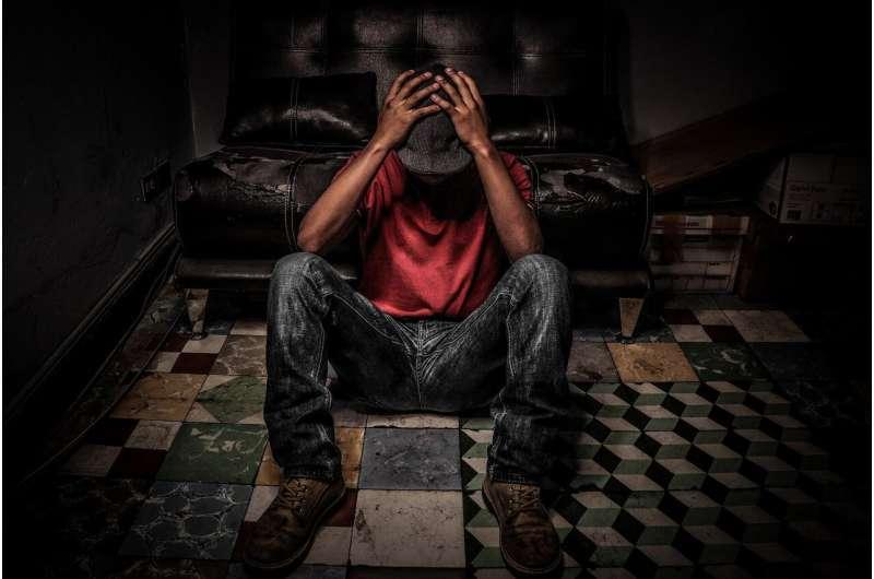 black man sad