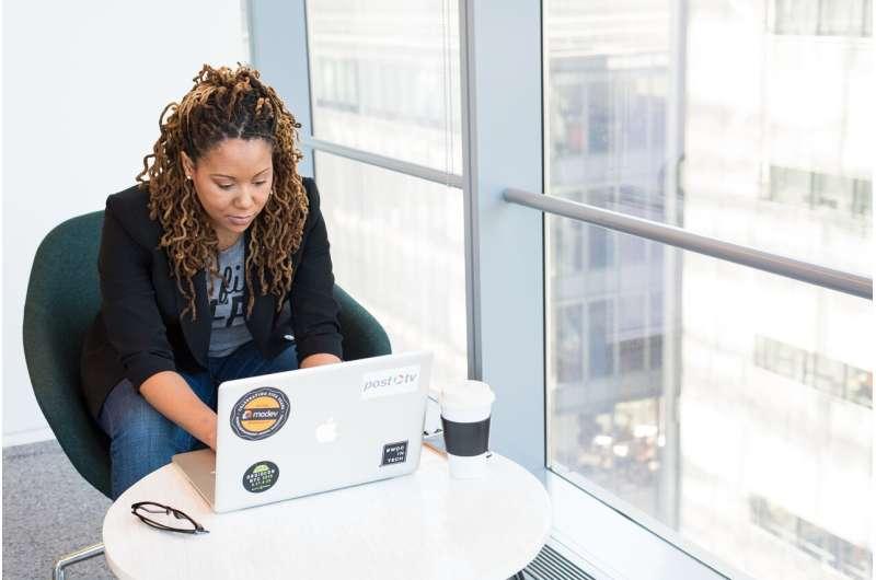 black woman computer