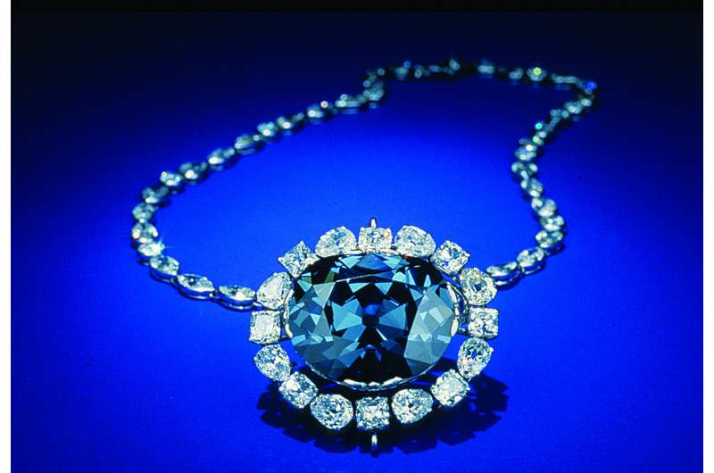 """Both the famous Hope diamond and British Crown Jewel diamonds, may be """"super-deep"""""""