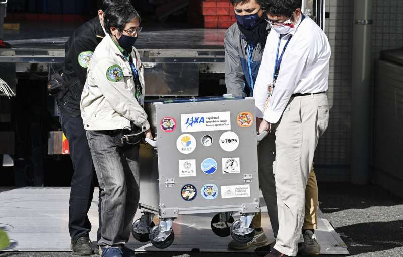 Capsule with asteroid samples arrives in Japan for research