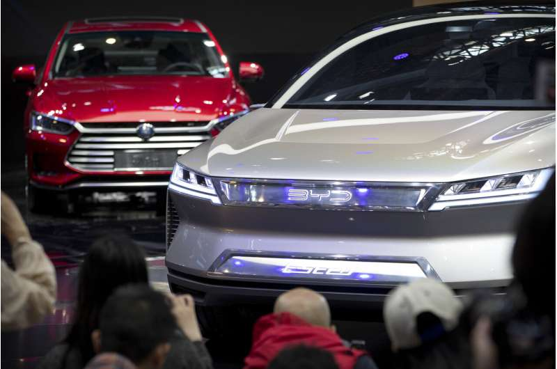 China promises subsidies to boost falling electric car sales