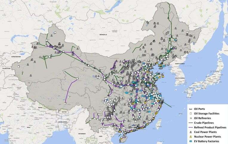 China's energy infrastructure mapped