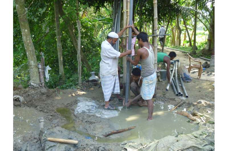 Clay layers and distant pumping trigger arsenic contamination in Bangladesh groundwater