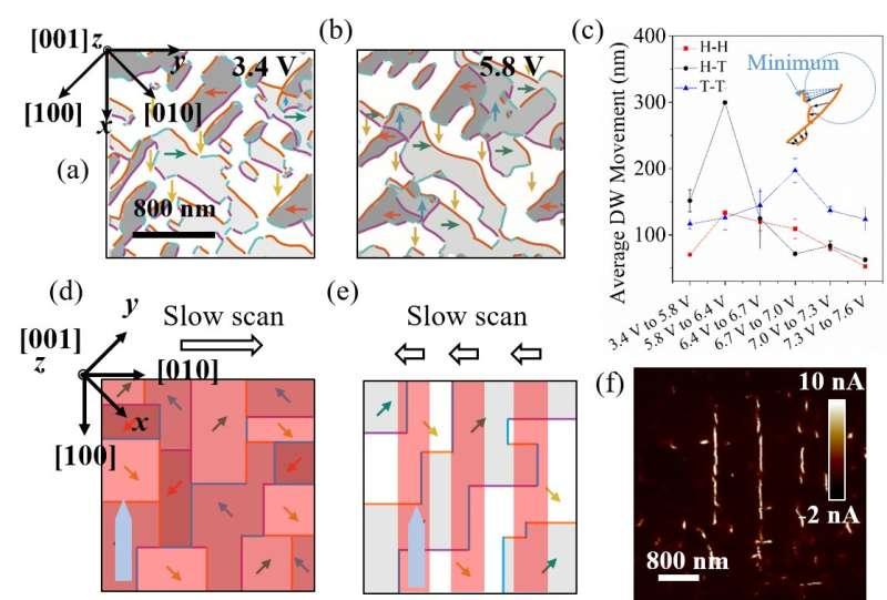 Controllable functional ferroelectric domain walls under piezoresponse microscope