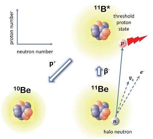 Convenient location of a near-threshold proton-emitting resonance in Boron-11