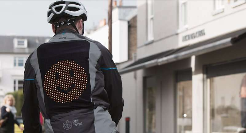 Cyclist and driver middle-finger wars: Enter the emoji jacket