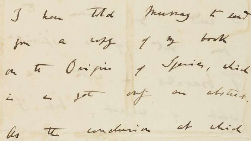 Darwin's handwritten pages from On the Origin of Species go online for the first time