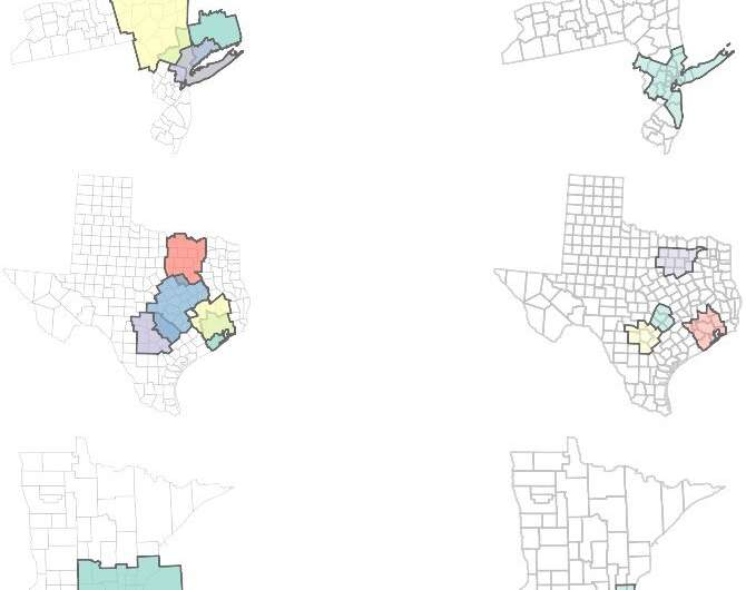 Defining geographic regions with commuter data