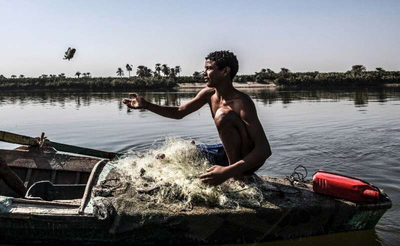 Despite its importance, the Nile is still heavily polluted in Egypt