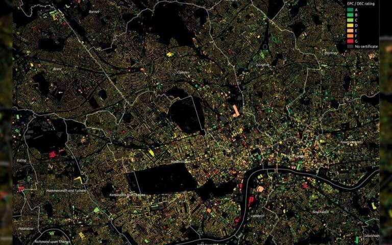 Digital 3-D models of london chart path to lower emissions