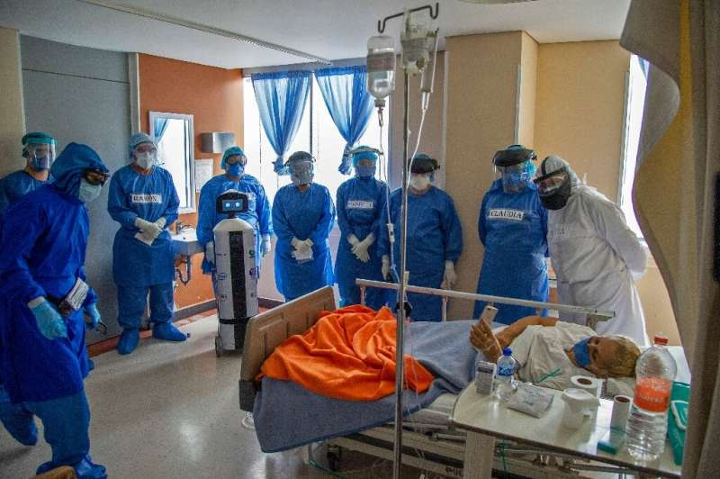 Doctors say a robot at a hospital in Mexico's capital is offering a lifeline to coronavirus patients