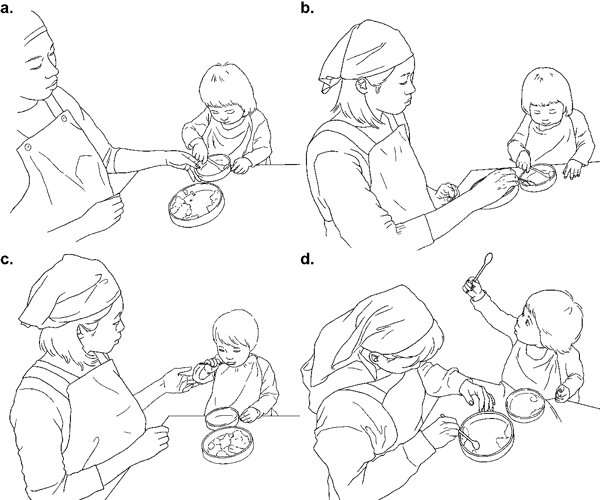 Do toddlers learning to spoon-feed seek different information from caregivers' hands & faces?