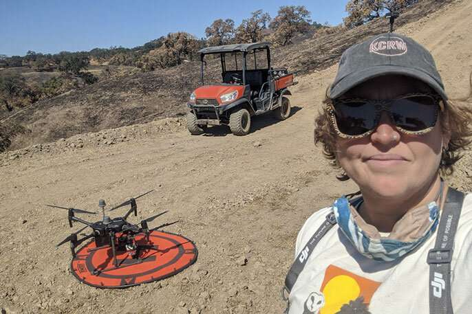 Drone surveys reveal fire damage and recovery in UC natural reserves