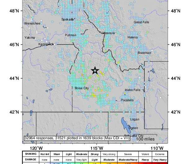 Earthquake presents new opportunities for research, Idaho geological survey director says