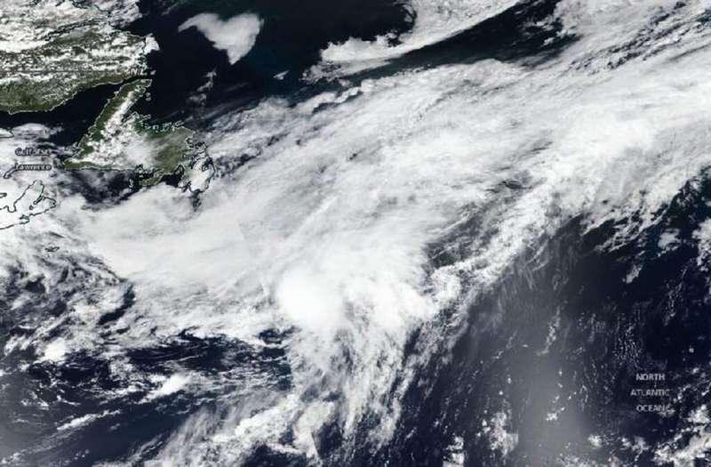 Edouard now post-tropical in NASA-NOAA satellite imagery