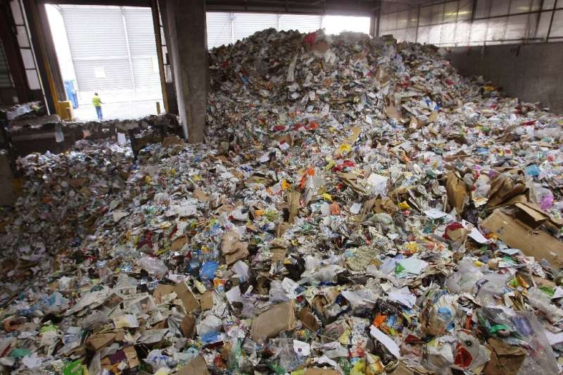 Even if plastic is properly thrown away most of it is still not recycled