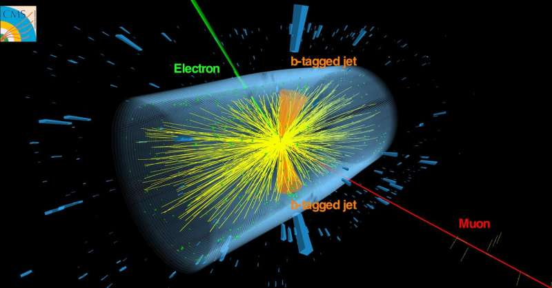 Evidence of top quarks in collisions between heavy nuclei