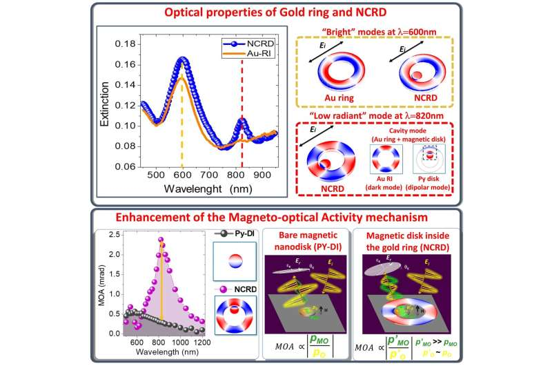 Extraordinary modulation of light polarization with dark plasmons in magnetoplasmonic nanocavities