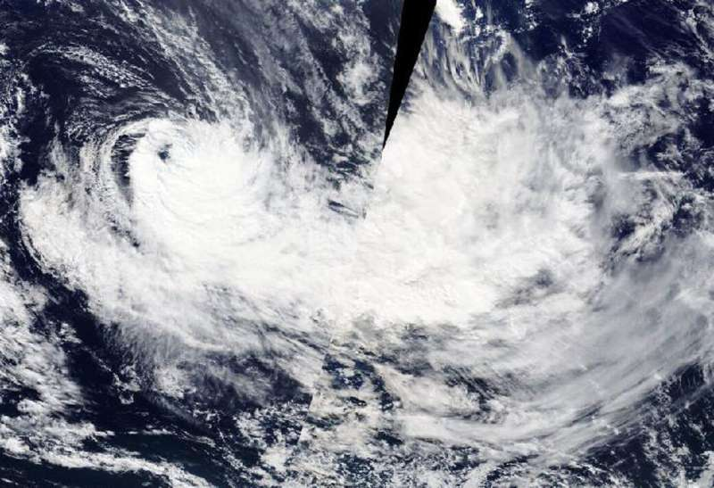 Extra-tropical Cyclone Harold caught by NASA's Terra Satellite