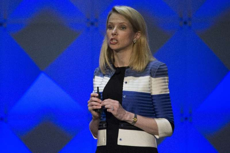 Former Yahoo CEO Marissa Mayer, seen in 2016, is back on the tech scene with a new app from her startup Lumi Labs