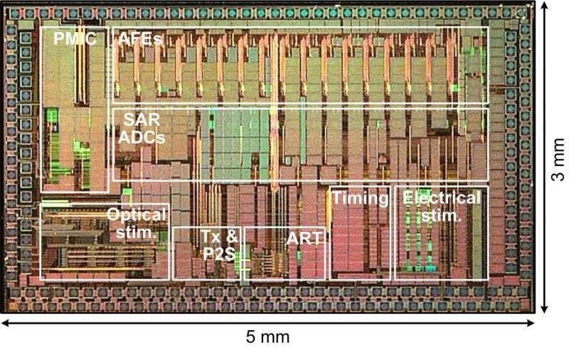 For neural research, wireless chip shines light on the brain