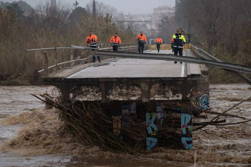 Four people are still thought to be missing after Storm Gloria crashed into eastern Spain on Sunday