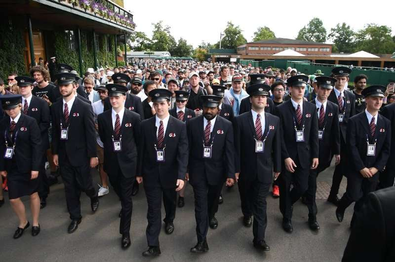 G4S security staff at the 2019 Wimbledon Championships
