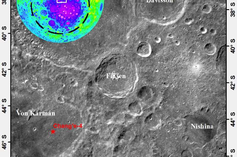 Geologic age of Finsen Crater on far side of the moon found to be 3.5 billion years