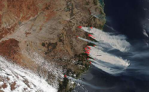 Global analysis shows unprecedented scale of Australian summer of fire