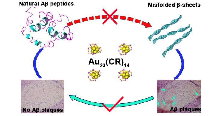 Gold nanoclusters: new frontier for developing medication for treatment of Alzheimer's disease