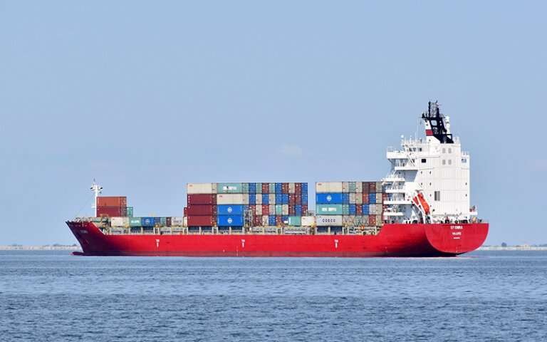 Greenhouse gas emissions from international shipping increasing