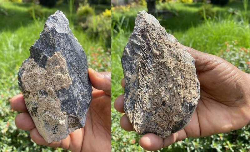 Homo erectus hand axe found in East Africa