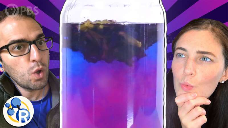 How does this blue flower tea change color? (video)