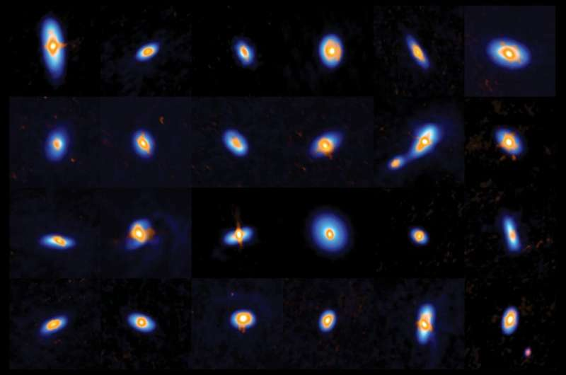 How newborn stars prepare for the birth of planets