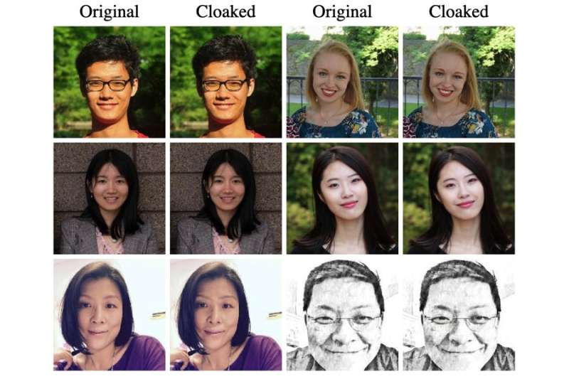 Image cloaking tool thwarts facial recognition programs