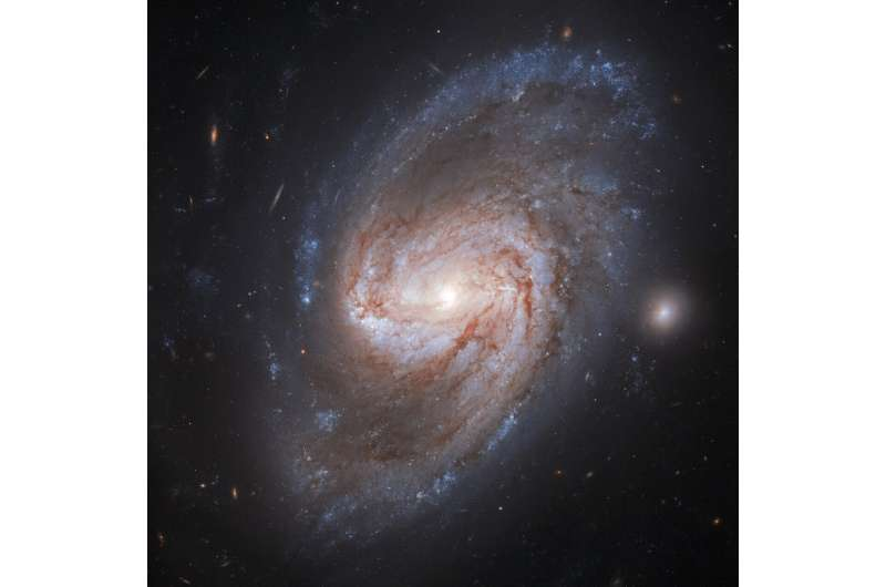 Image: Hubble views a galaxy burning bright