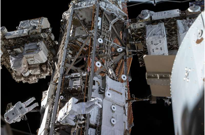 Image: Spacewalk to service the Alpha Magnetic Spectrometer