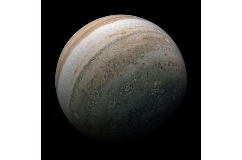 Image: The southern hemisphere of Jupiter